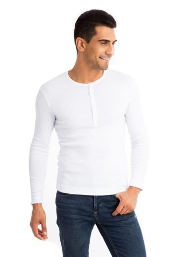 Kiğılı Sweatshirt Beyaz